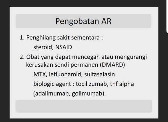 Pengobatan Rheumatoid Arthritis 1