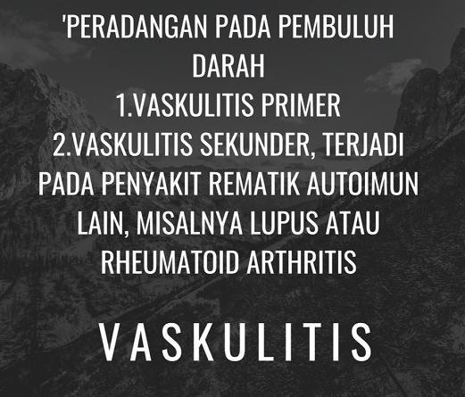 Jenis-jenis vaskulitis